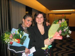 Anastazija Novojilova with Natalia SnowBall Classic 2005, Vancouver