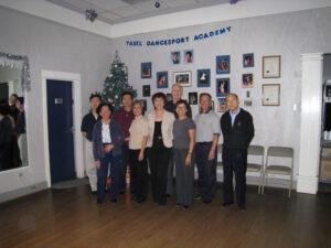 Irina Prodan - Yasel with her students Yasel DanceSport Academy