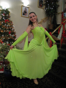 Olga Divakova in Richmond, Canada dancing for Norway's Dancesport Team