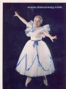 Photo many years later Regina Royce dancing